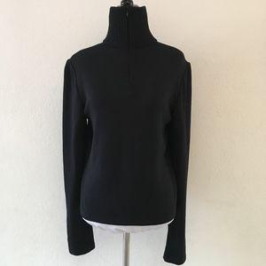 St. John Sport Black 1/2 Zip Turtleneck Pullover 6